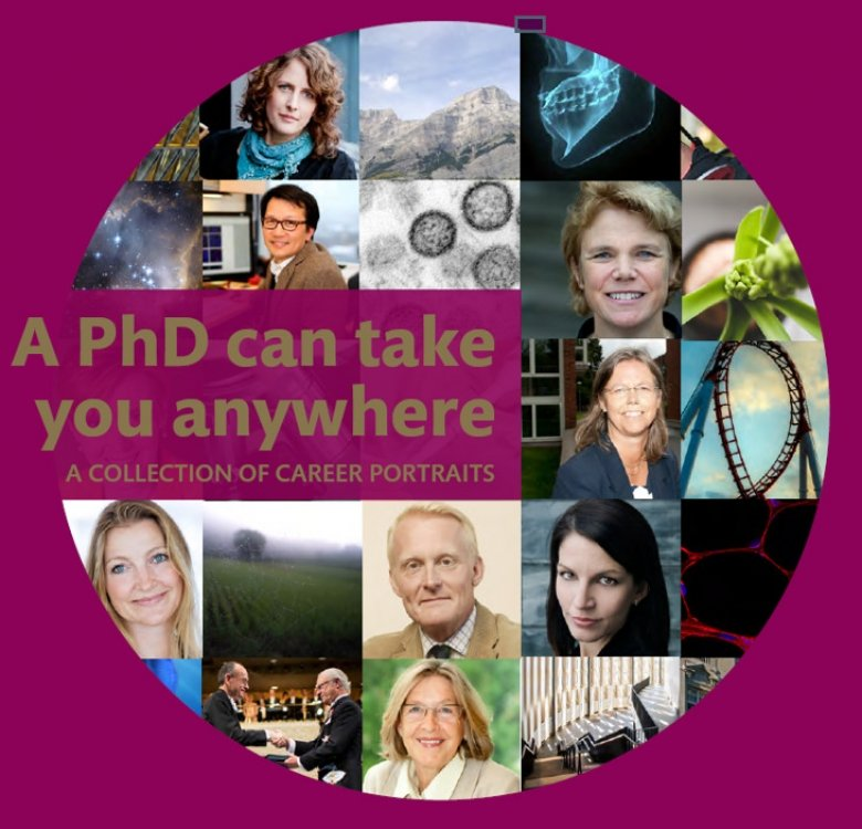 "Front page of the career magazine ""A PhD can take you anywhere"""